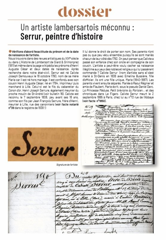 Le Bulletin historique n° 23 de Lambersart