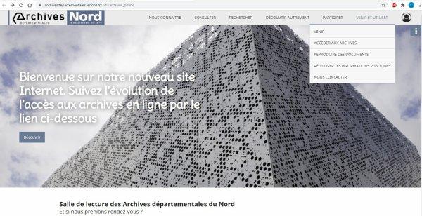 Archives départementales du Nord : la nouvelle version du site internet est en ligne