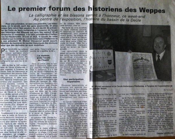 Les premiers forums des Weppes