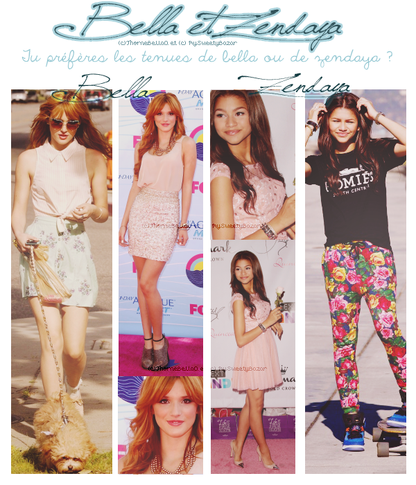 Article en collaboration avec MySweetyBazar - Bella & Zendaya !