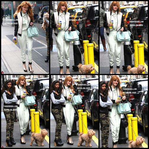 Le 31 Mars Bella à fait une sortie à New York accompagnée de sa chienne et une de ses amie  !