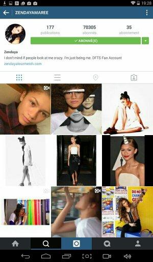 Zendaya a deux Instagrams, le le plus récent est le 2ème