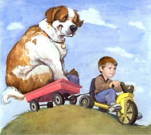 mathias promène son chien