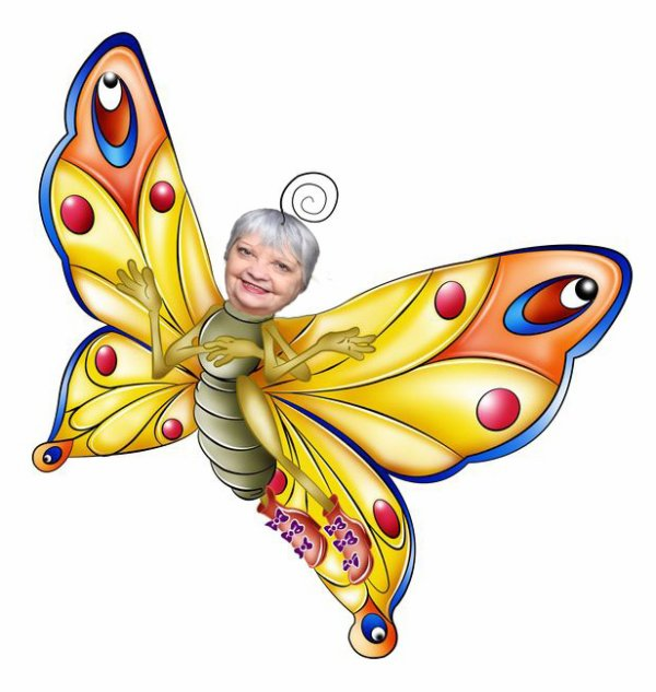 ho ho haaa le jolie papillon la mémère josy