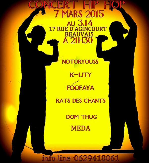 concert hip hop 3.14 BEAUVAIS