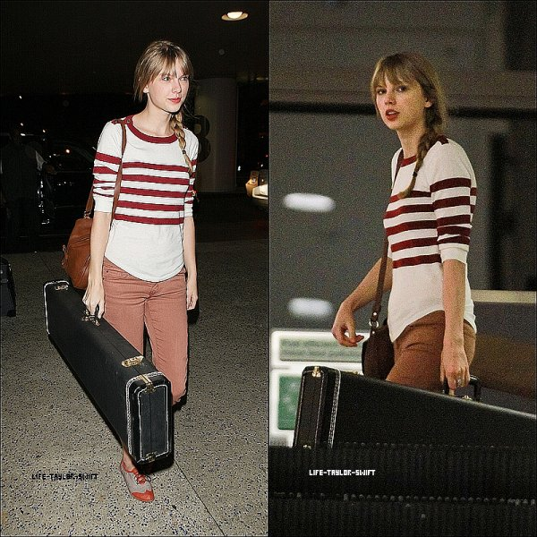 27.02.12:Taylor à l'aéroport LAX de Los Angeles direction Perth (Australie) pour continuer le Speak Now World Tour.