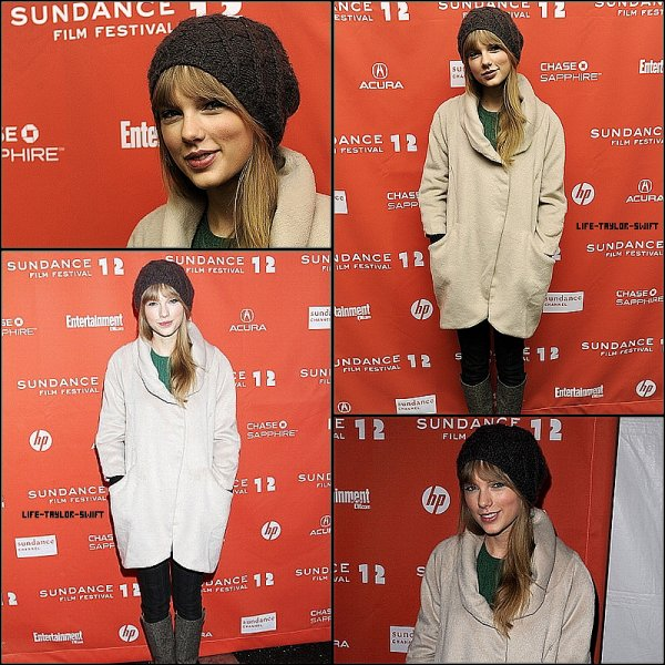 """20.01.12: Taylor à la première de """"Ethel"""" à Park City (Utah)"""
