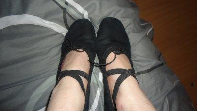 Mé piied daan mes chaussons de danse !!