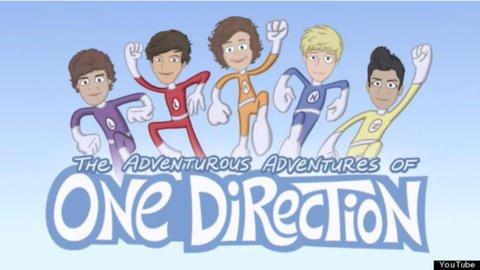 "Le dessin animé ""The Adventures Of One Direction""."