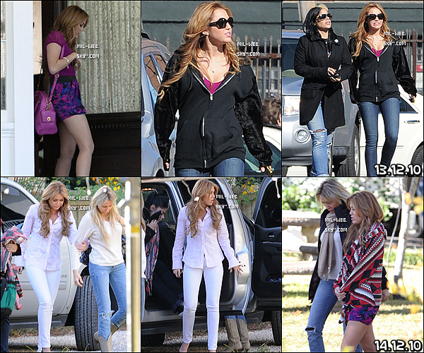 """Cette sem. - Miley C. a enchaîné les tournages pour le film """" So Undercover """".J'aime bien les tenues qu'elle porte."""