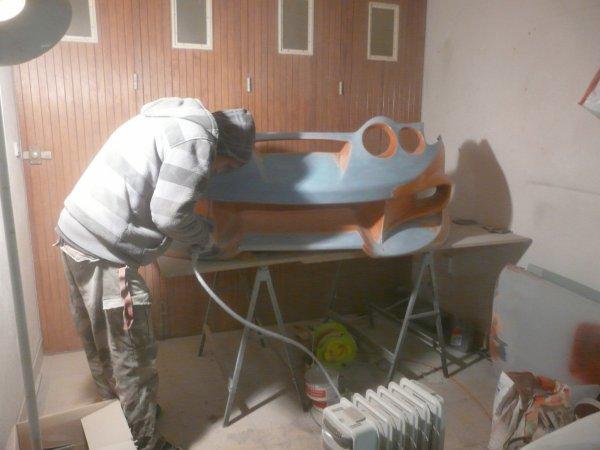 début des travaux sur le pc avant de la hyundai