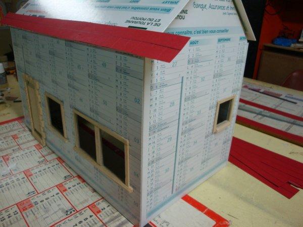 maison en construction au 1/16