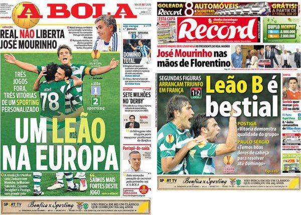 Europa League, 2010-2011, première journée