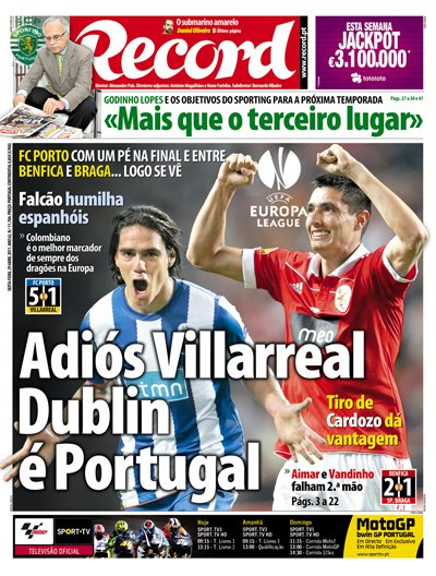 Ligue Europa : une finale 100% portugaise !