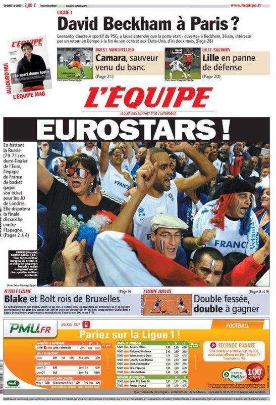 EuroBasket : l'équipe de France en finale et aux JO !!!