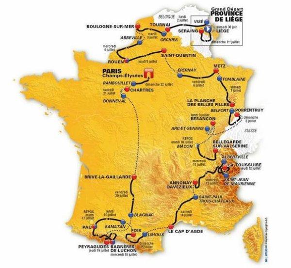 Tour de France 2012 : présentation du tracé