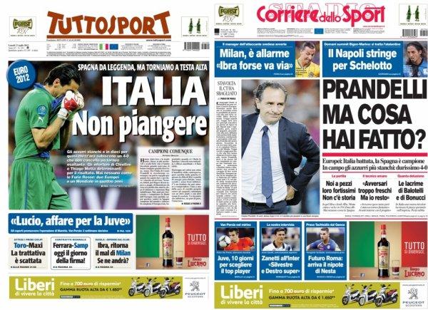 Euro 2012 : l'Espagne réalise le triplé