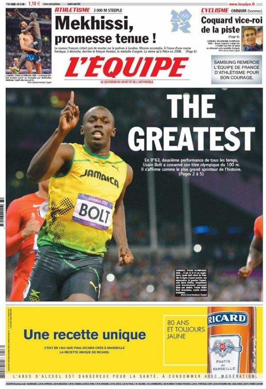 Jeux Olympiques : Bolt est le boss