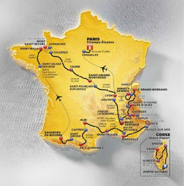 Tour de France 2013 : le tracé
