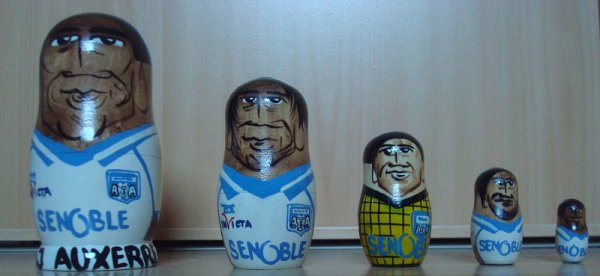 Les matriochkas de l'AJ Auxerre !