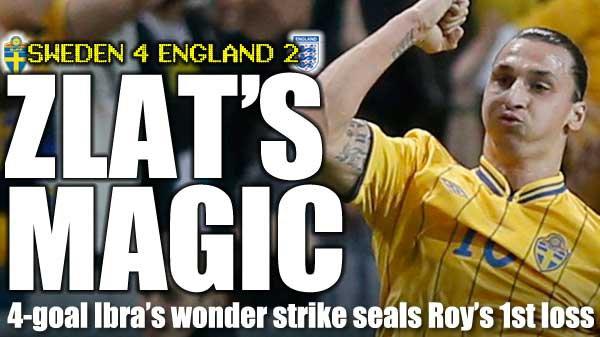 Suède - Angleterre : Zlatan puissance 4
