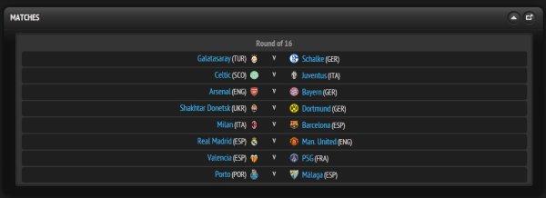 Ligue des Champions 2012-2013 : tirage des huitièmes de finale