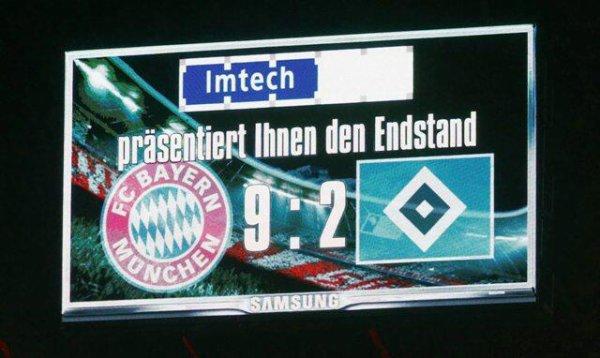 Bayern Munich - Hambourg : 9-2