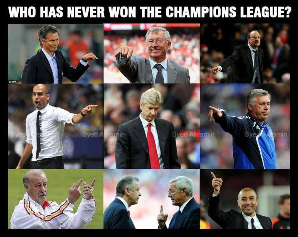 Who has never won the Champions League ?