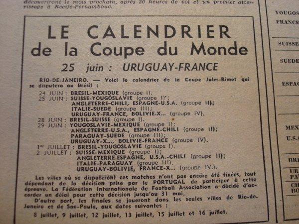 Eliminée, repêchée, forfait : la France et la Coupe du monde 1950