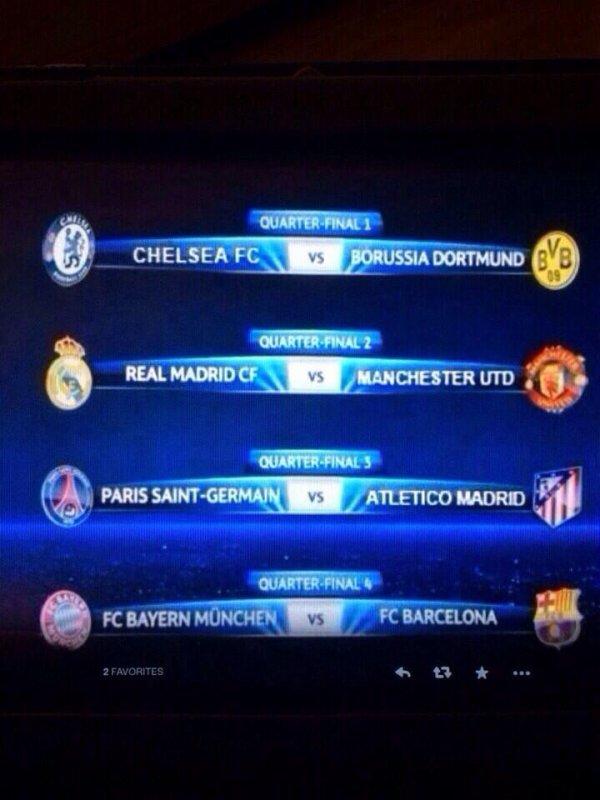 Ligue des champions et Ligue Europa : tirage des quarts de finale