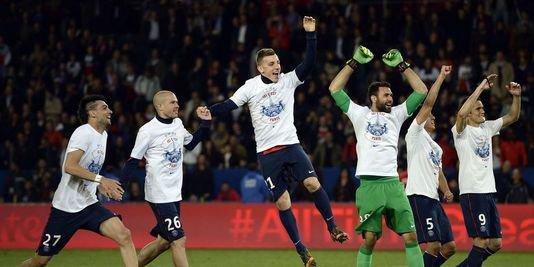 Le Paris Saint-Germain champion de France 2014