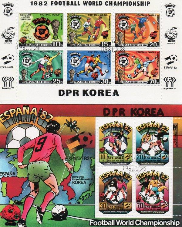 Corée du Nord : des timbres pour la Coupe du monde