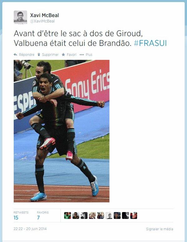 Coupe du monde 2014 : France-Suisse, 5-2