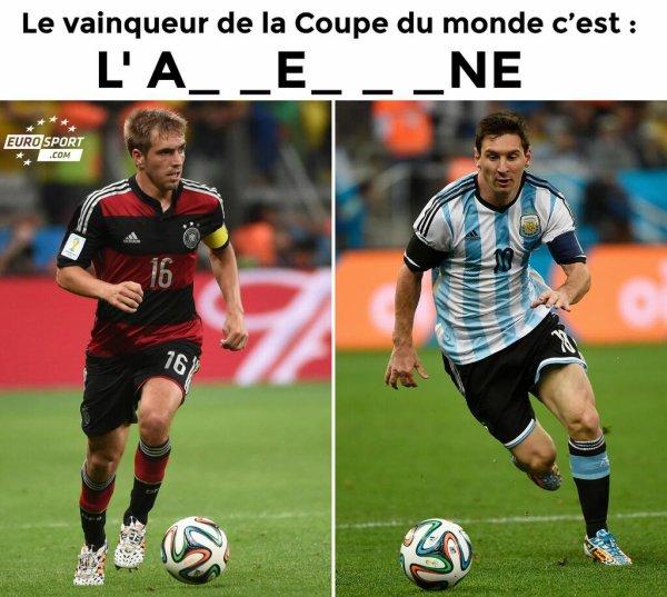 Coupe du monde 2014, et le vainqueur est ?