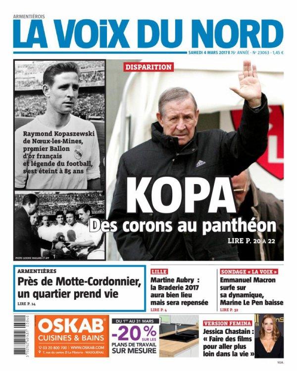 La presse rend hommage à Raymond Kopa