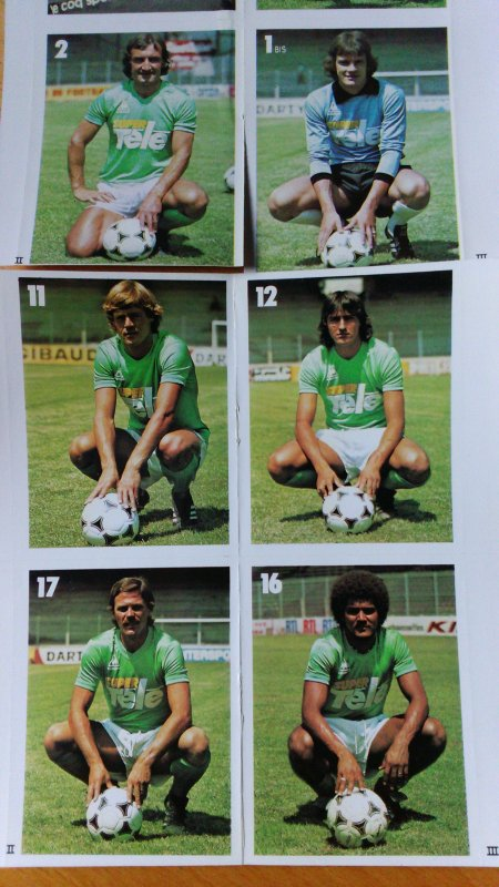 Autocollants AS Saint-Etienne Super-Télé 1979-1980