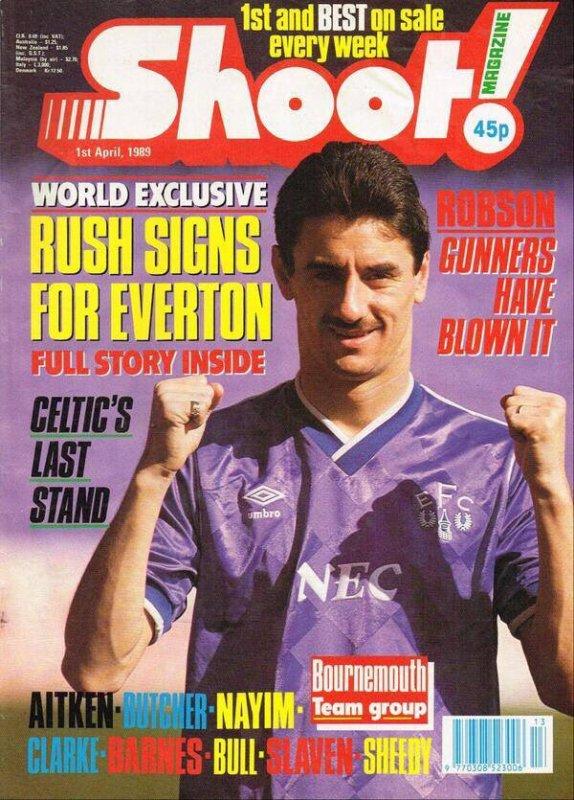Ian Rush à Everton : le poisson d'avril de Shoot! en 1989