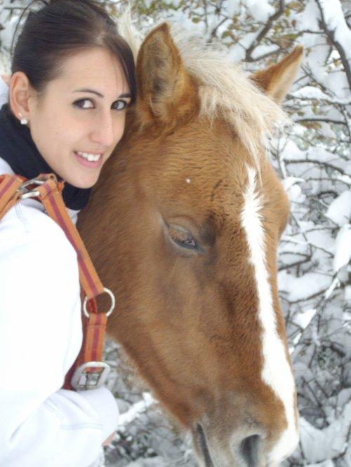 Mon Bébé sous la neige :D