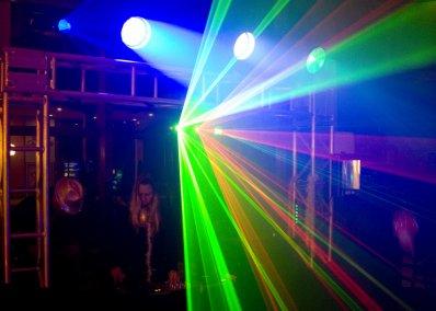 Iluminação Sputnics, Luzes de Led, Laser, e treliças