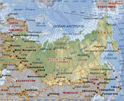 Carte de la Russie ...