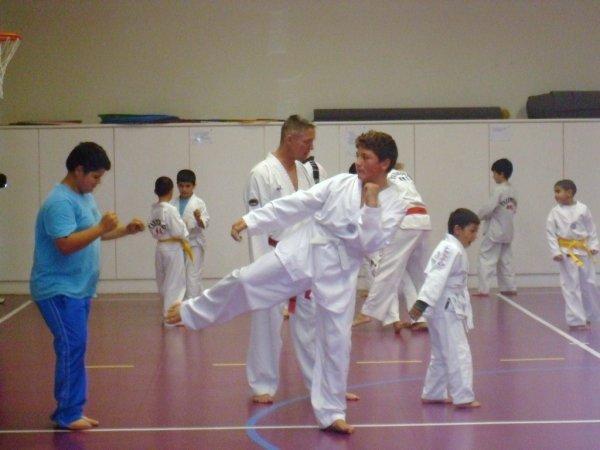 moi a ma salle de taekwondo