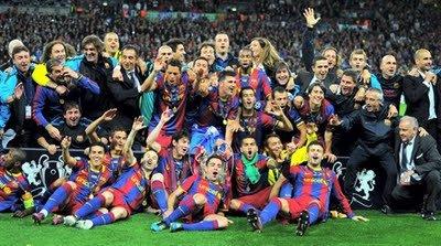 CHAMPIONS LEAGUE EUROPEEN/ FC BARCELONE SURCLASSE MANCHESTER UNITED