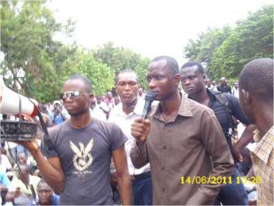 Libération hier d'Adou Sébou, le président du Mouvement pour l'émancipation de l'étudiant togolais (MEET)