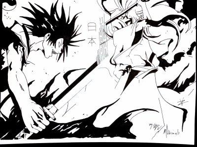 Kyo et Oda Nobunaga dans Samurai deeper Kyo