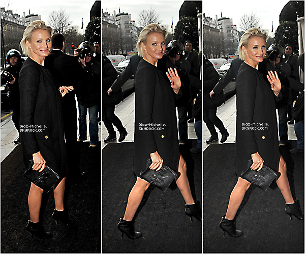 - 23/01/12 : Cameron pour la Fashion Week Haute Couture à Paris.