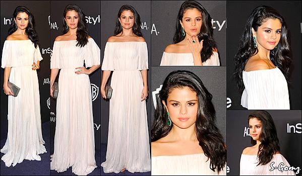 """10.01.16 - Selena s'est rendue à l'after-pary des """"73rd Golden Globe Awards"""" à Beverly Hills."""