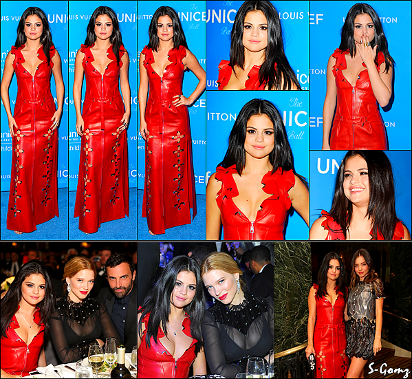 12.01.16 - Selena  s'est rendue au 6ème Biennial UNICEF Ball à Beverly Hills.