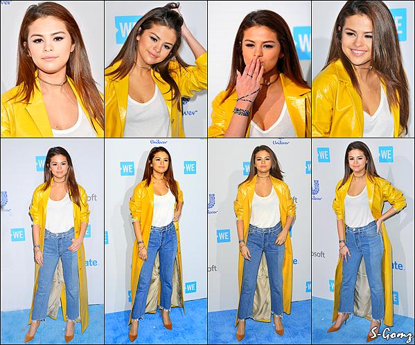 07.04.16 - Selena s'est rendu à l'évènement du « We Day » se déroulant dans Inglewood.