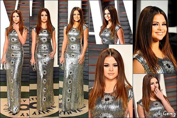 28.02.16 - Selena s'est rendu à la cérémonie des Vanity Fair Oscar Party à Beverly Hills.