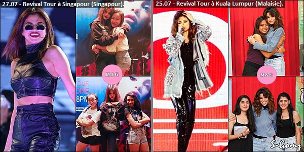 23.07.16 au 31.07.16 - Selena à donnée 5 concerts du Revival Tour.